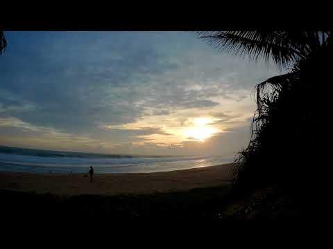 Time Lapse. Sri Lanka. Koggala. Long Beach. 14  September 2017
