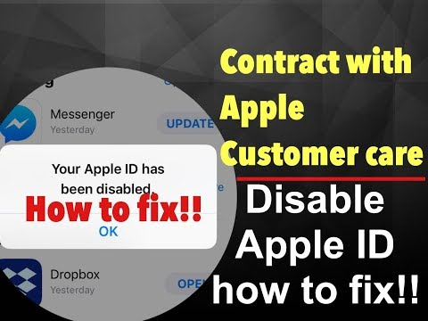 Apple ID Disable How to Fix!