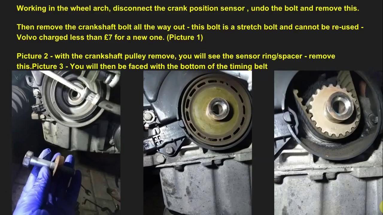hight resolution of volvo v50 2 0d cambelt tensioner change