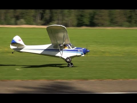 ONE WHEEL TOUCH AND GO HUGE PIPER SUPER CUB PA-18 RC SCALE MODEL AIRPLANE