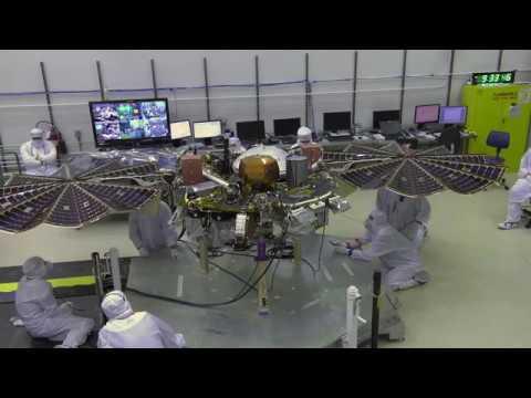 Video file: NASA InSight Solar Array Deployment Test