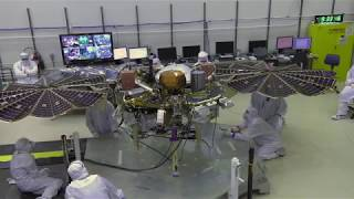 Video file: NASA InSight Solar Array Deployment Test
