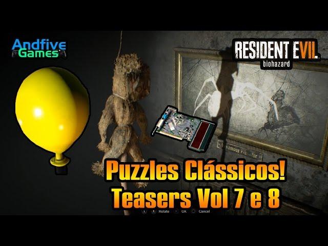 Resident Evil 7 Puzzles Ao Estilo Cl�ssico An�lise dos Teasers Vol 7 e 8