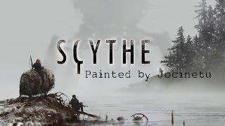 Scythe boardgame full painted miniatures