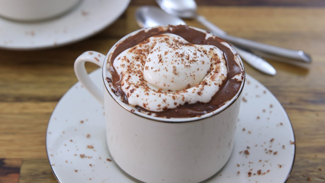Italian Hot Chocolate Recipe Youtube