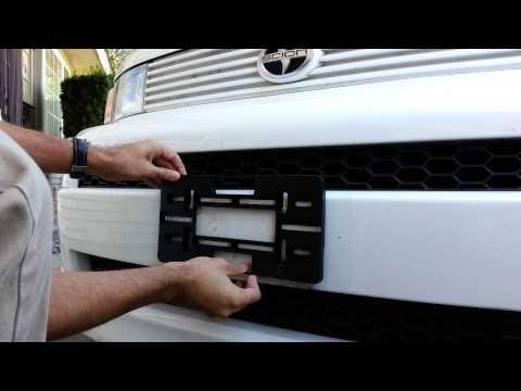 license plate holder / bracket installation