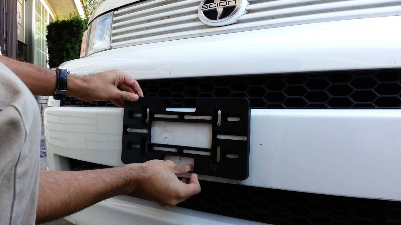 license plate holder / bracket installation - YouTube