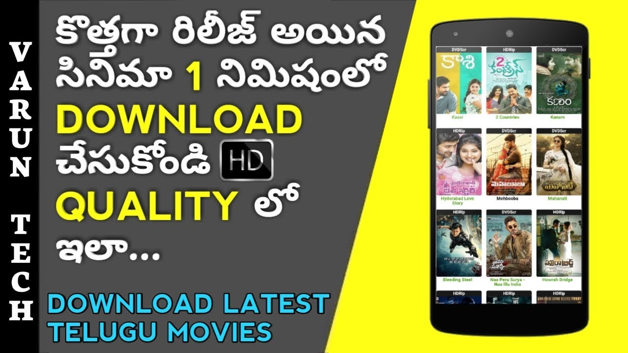 How to download latest Telugu movies 2018 in hd free | in android |  utorrent | Varun tech