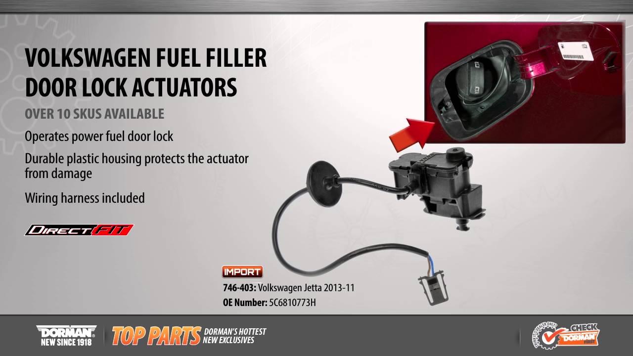 hight resolution of fuel filler door lock actuator