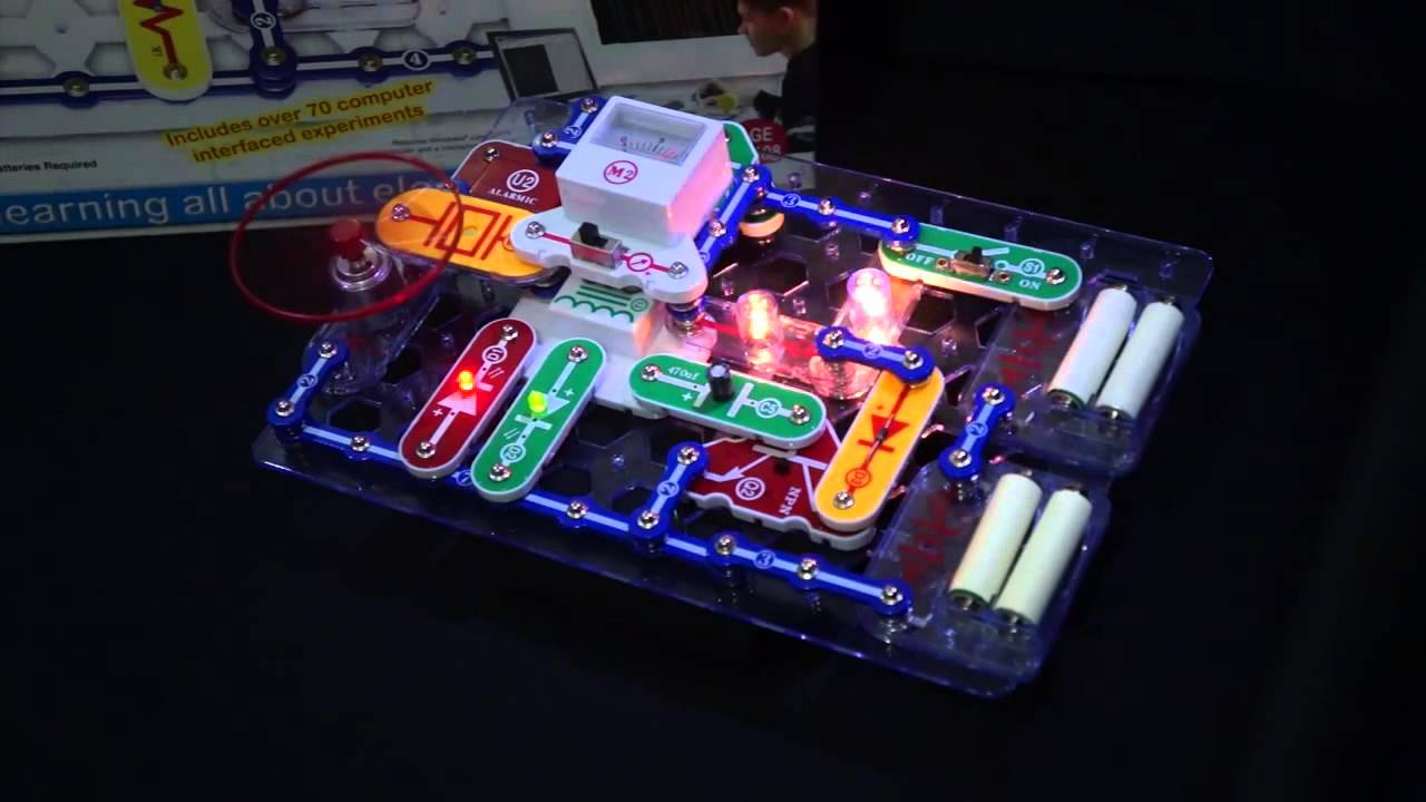 What Is Snap Circuits Youtube Lights Electric Circuit Science Kit By Elenco