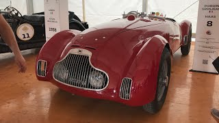 an exhibition of old rare racing cars at the Grand Prix of Monza 2018 Italy