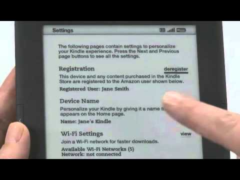 How to Register Your New Amazon Kindle 3 | Kindle DX