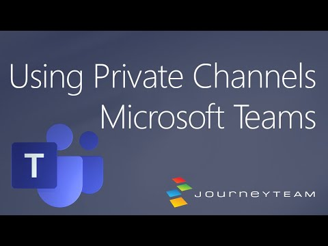 Using Private Channels | Microsoft Teams
