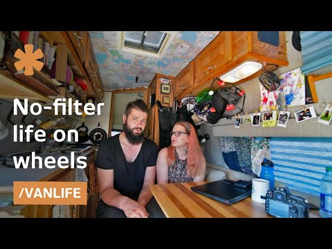 vanlife with no filter: couple records worklife on wheels