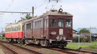 琴電レトロ電車特別運行300号+23号 回送列車2016.7.17撮影