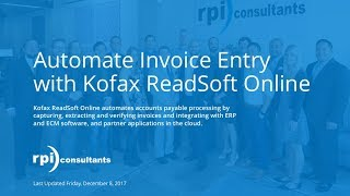 Automate Invoice Entry with Kofax ReadSoft Online