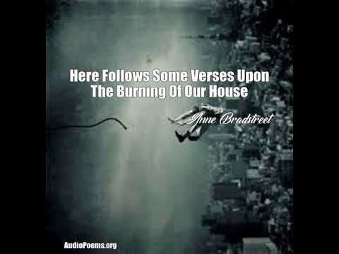 here follows some verses upon the burning of our house