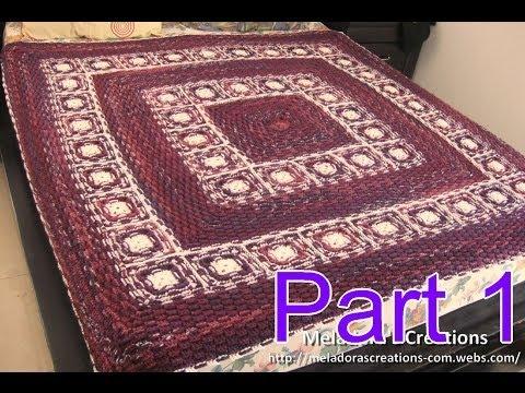 Basket Weave Granny Afghan Pt 1 - Making the Grannies - Crochet
