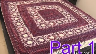 Basket Weave Granny Afghan Pt 1 - Making The Grannies - Crochet