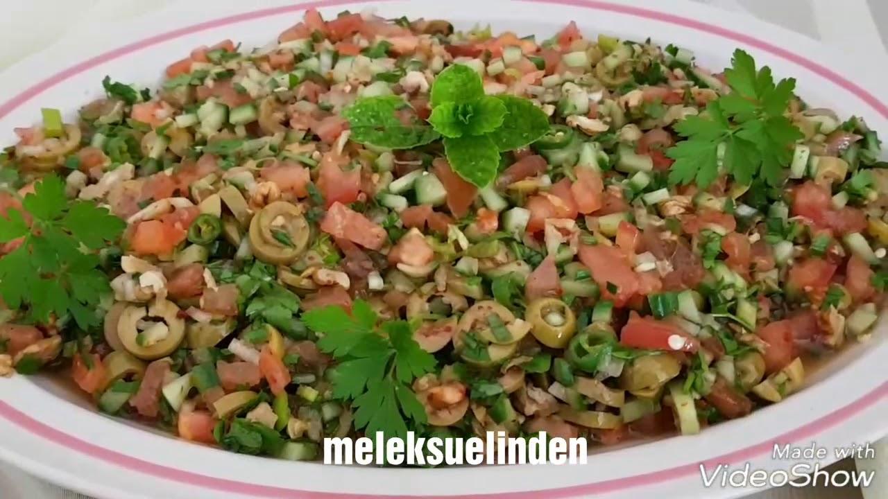 Zeytinli Bulgur Salatası