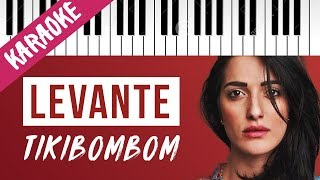 Levante   Tikibombom   SANREMO 2020 // Piano Karaoke con Testo