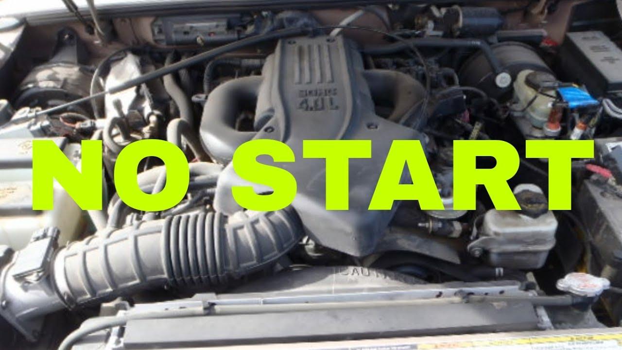 medium resolution of ford explorer crank but no start