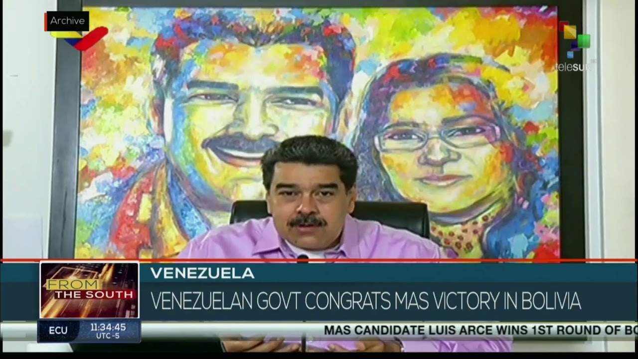 Venezuelan government congrats MAS victory in Bolivia