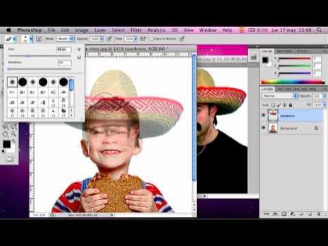 Recortar parte de una imagen y pegarla en otra con Photoshop
