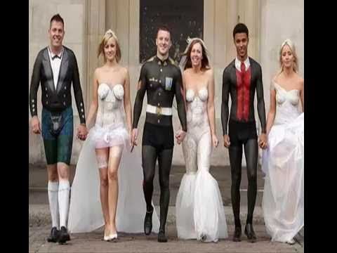 Show Body Paint Wedding Dress Style