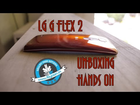 LG G Flex 2 RED Unboxing and Hands on Review India - iGyaan
