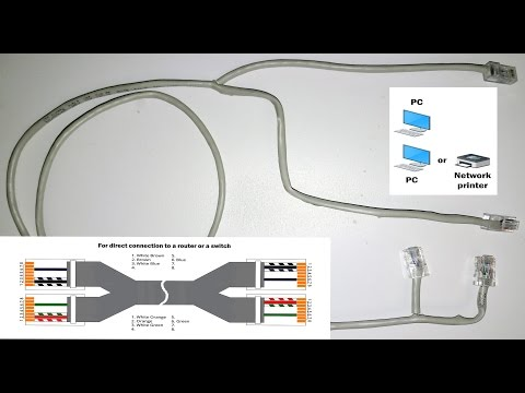 Ethernet Hack. How to split one ethernet cable for a few devices. One ethernet jack for two PC