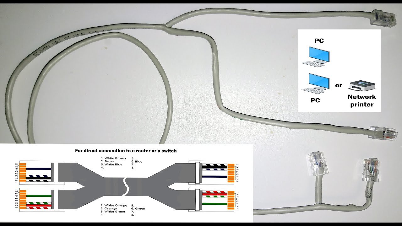 cat5 wiring diagram faceplate excretory system worksheet ethernet hack how to split one cable for a few