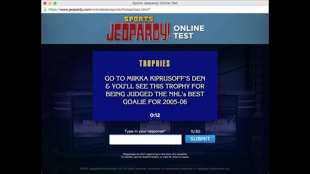Jeopardy Sports Make Up Test June 3