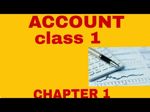 Class 11 Account chapter 1  introduction
