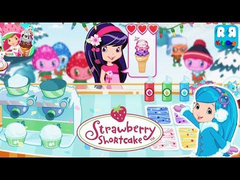 Strawberry Shortcake Ice Cream - Cherry Jam got Surprise by Blueberry Muffin