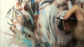 time lapse drawing by carne griffiths