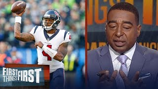 Cris Carter reacts to Deshaun Watson's Week 8 performance against the Seahawks  | FIRST THINGS FIRST