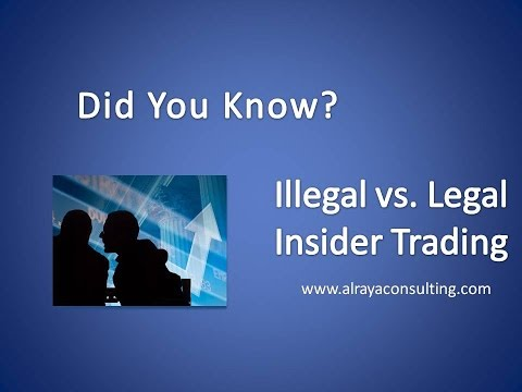 "DID YOU KNOW?"" LEGAL vs.. ILLEGAL INSIDER TRADING"