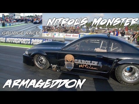 1 OF THE BADDEST NITROUS GRUDGE CARS ON 29s/315s AT LIGHTS OUT 9! ARMAGEDDON VS TIMMY REMATCH!