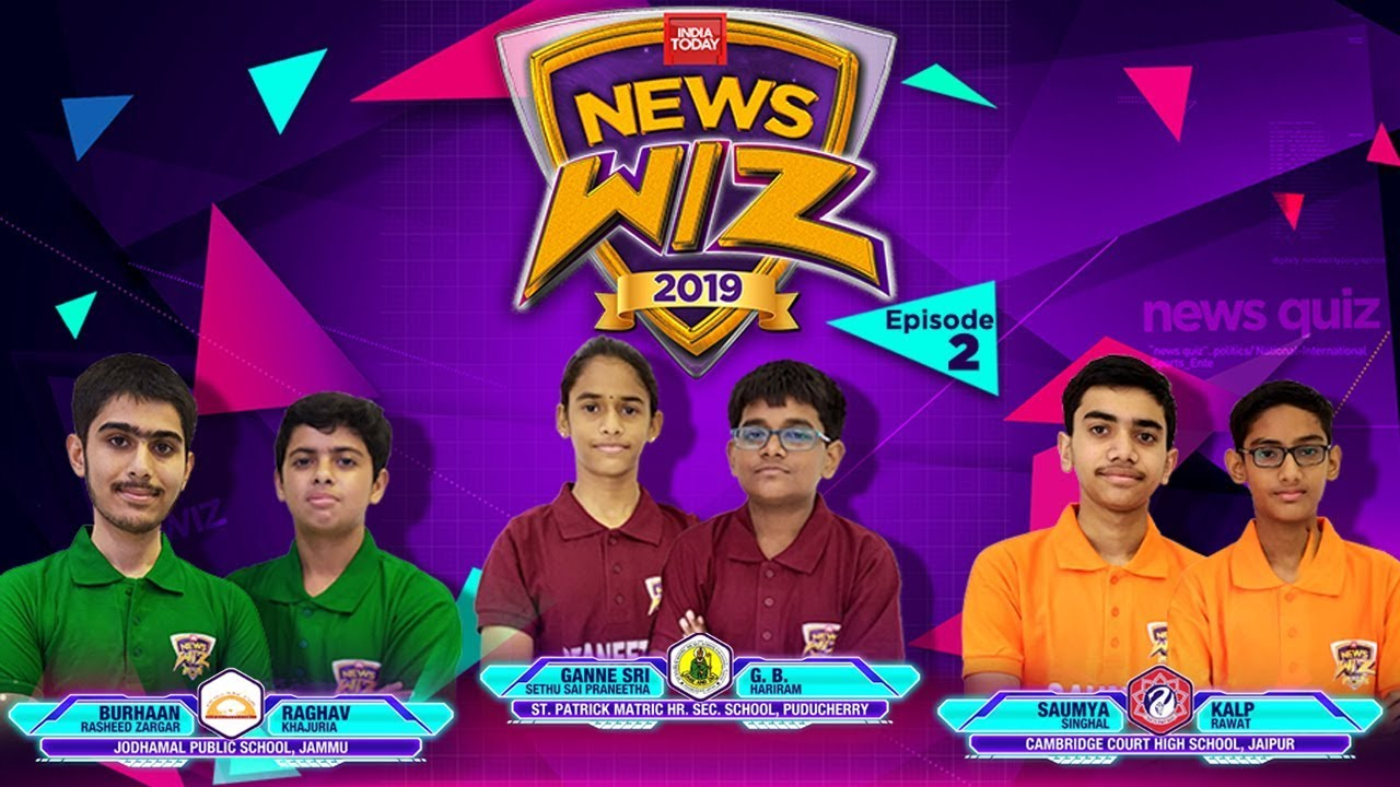 News Wiz 2019 | Episode 2 |  St. Patrick Vs Cambridge Court High School Vs Jodhamal Public School