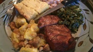 Easy Yellow Squash Casserole ~ Smoked Chops, Sunday Dinner!