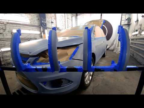 Ford Focus 2 преображение ТИТАНом, покраска без изменения цвета.