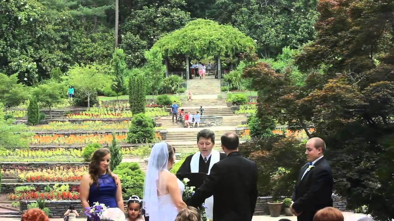 outdoor wedding ceremony at sarah duke gardens demo