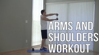 20 Minute Arm and Shoulder Workout - HASfit Shoulders and Arms Workouts Exercises