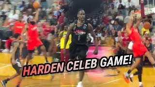 Travis Scott & Meek Mill BATTLE In Celeb Basketball Game! James Harden & Russell Westbrook Team Up!