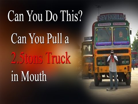 Can you Do this... ? He can Pull a Big truck in Mouth #amazingStunt Redpix24x7 #AmazingStunt  #stunt #pullingtruckInMputh  http://www.ndtv.com BBC Tamil: http://www.bbc.co.uk/tamil INDIAGLITZ :http://www.indiaglitz.com/channels/tamil/default.asp  ONE INDIA: http://tamil.oneindia.in BEHINDWOODS :http://behindwoods.com VIKATAN http://www.vikatan.com the HINDU: http://tamil.thehindu.com DINAMALAR: www.dinamalar.com MAALAIMALAR http://www.maalaimalar.com/StoryListing/StoryListing.aspx?NavId=18&NavsId=1 TIMESOFINDIA http://timesofindia.indiatimes.com http://www.timesnow.tv HEADLINES TODAY: http://headlinestoday.intoday.in PUTHIYATHALAIMURAI http://www.puthiyathalaimurai.tv VIJAY TV:http://www.youtube.com/user/STARVIJAY  -~-~~-~~~-~~-~- Please watch: