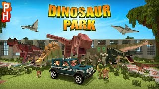 Minecraft Dinosuars Park - Gameplay Walkthough Part 1 - Kids Explore and Learn about Dinosaurs