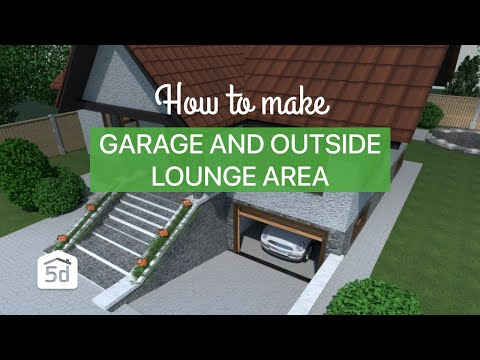 House With A Basement Garage And Outside Lounge Area Youtube