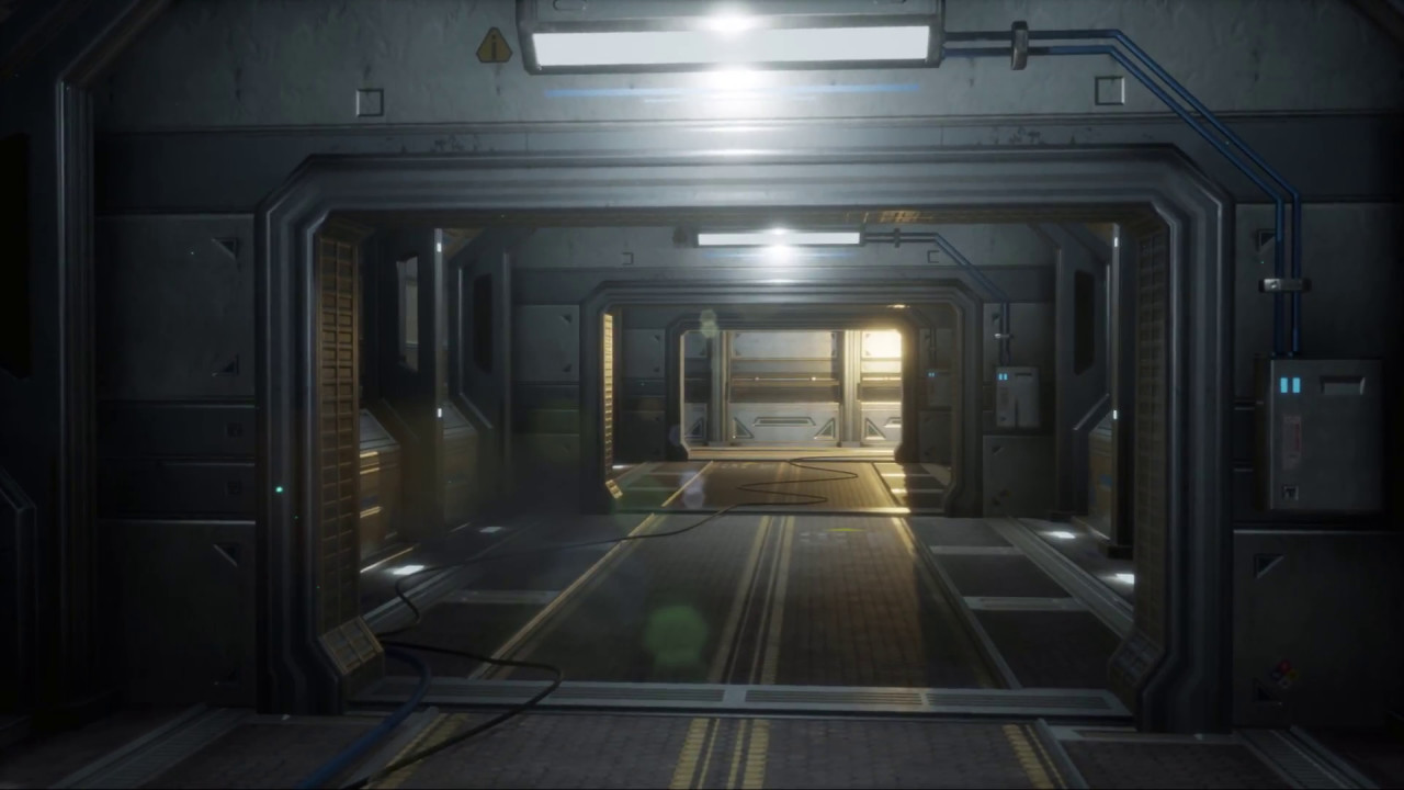 3d Corridor Sci Fi In Unreal Engine 4 Youtube