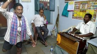 Extraordinary Singing By An Illiterate And Harmonium By G J Raju.